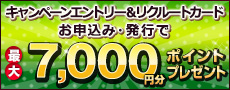���N���[�g�J�[�h�V�K���Ń|���p���Ŏg����|�C���g�ő�8,000�~�������炦��I�ڂ����͂������